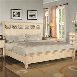 Flexsteel Wynwood Collection Garden Walk King Low-Profile Bed