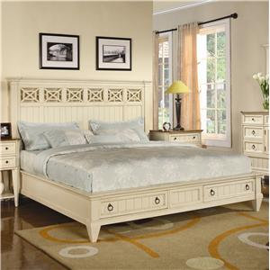 Flexsteel Wynwood Collection Garden Walk King Panel Storage Bed