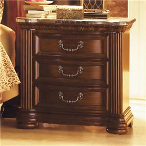 Flexsteel Wynwood Collection Granada  Night Stand with Marble Top