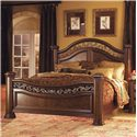 Flexsteel Wynwood Collection Granada  California King Mansion Bed with Wrought Iron Accents - Bed Shown May Not Represent Size Indicated