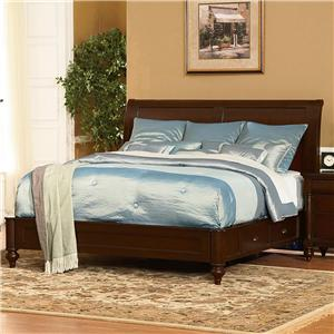 Flexsteel Wynwood Collection Harrison Queen Bed with Storage