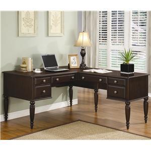 Flexsteel Wynwood Collection Lancaster  L Desk