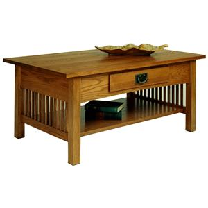AA Laun Workbench Classics Cocktail Table with Drawer and Shelf