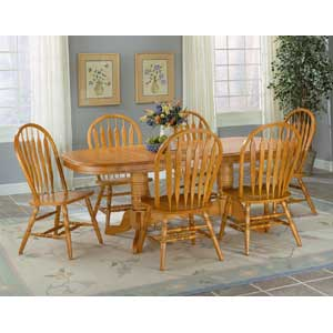 AAmerica British Isles Butterfly Trestle Table with Chairs