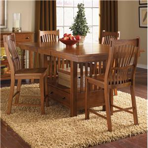 AAmerica Laurelhurst 5-Piece Rect. Gathering Height Table Set