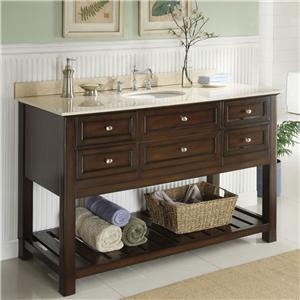 Acme Furniture Ursa Cherry Sink W/White Marble Top