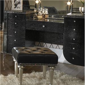Michael Amini Hollywood Swank Upholstered Vanity