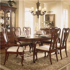 American Drew Cherry Grove 45th Oval Leg Table Dining Set