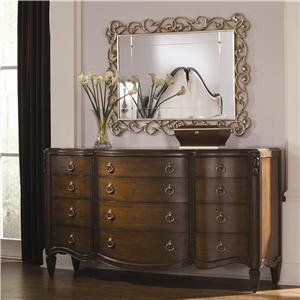 American Drew Jessica McClintock Couture Dresser and Mirror