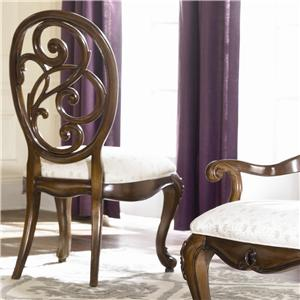 American Drew Jessica McClintock Couture Splat Back Side Chair