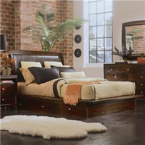 American Drew Tribecca Queen Platform Bed with Underbed Storage