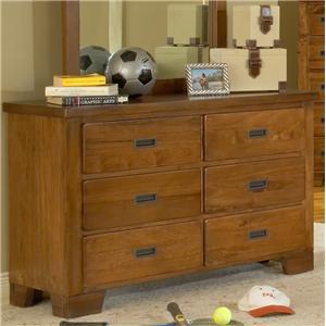American Woodcrafters Heartland  Double Dresser