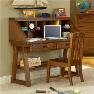 American Woodcrafters Heartland  Desk and Hutch