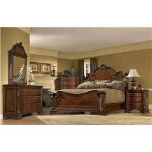 A.R.T. Furniture Inc Old World Queen Bedroom Group