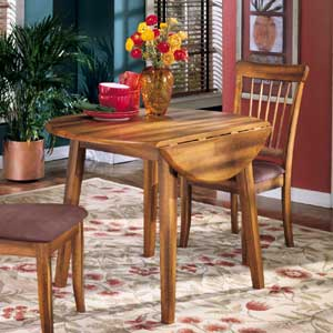 Signature Design by Ashley Furniture Berringer Round Drop Leaf Table