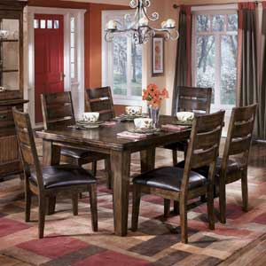 Signature Design by Ashley Furniture Larchmont Dining Table with 6 Side Chairs