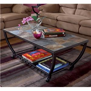 Signature Design by Ashley Furniture Antigo Rectangular Cocktail Table w/Casters