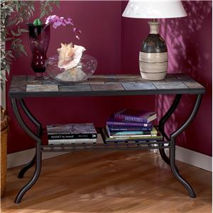 Signature Design by Ashley Furniture Antigo Slate Top Sofa Table
