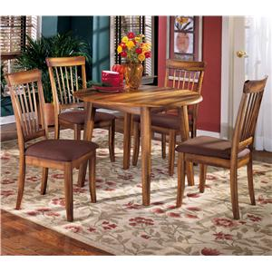 Signature Design by Ashley Furniture Berringer 5-Piece Drop Leaf Table & Side Chair Set