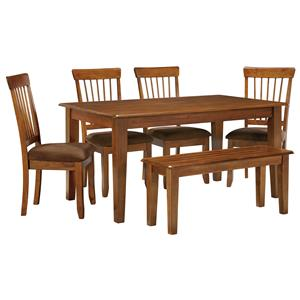 Signature Design by Ashley Furniture Berringer 36 x 60 Table with 4 Chairs & Bench