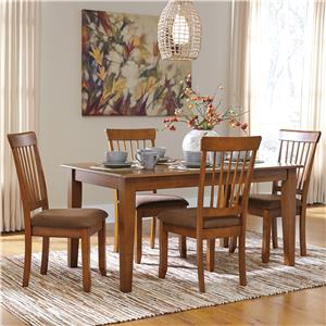 Signature Design by Ashley Furniture Berringer 5-Piece 36x60 Table & Chair Set