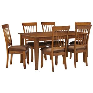Signature Design by Ashley Furniture Berringer 7-Piece 36x60 Table & Chair Set