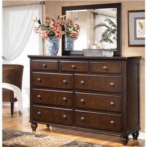 Signature Design by Ashley Furniture Camdyn 9 Drawer Dresser and Mirror Set