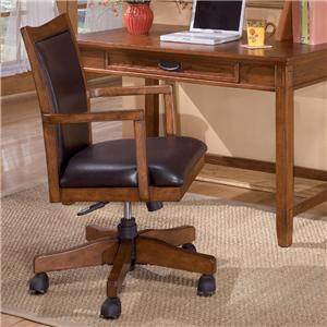 Ashley Furniture Cross Island Arm Chair with Swivel/Adj Height