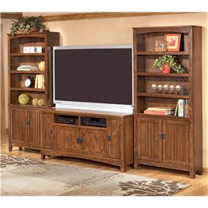 Ashley Furniture Cross Island 60 Inch TV Stand & 2 Large Door Bookcases