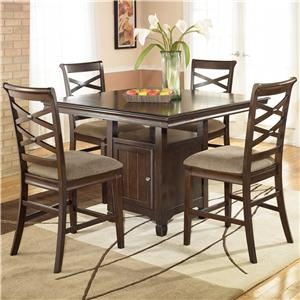 Signature Design by Ashley Furniture Hayley 5 Piece Pub Dining Set