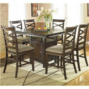 Signature Design by Ashley Furniture Hayley 7 Piece Pub Dining Set