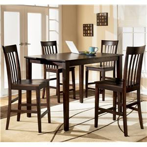 Signature Design by Ashley Furniture Hyland Rectangular Counter Height Table w/ 4 Stools