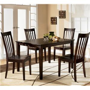 Signature Design by Ashley Furniture Hyland Rectangular Dining Table with 4 Chairs