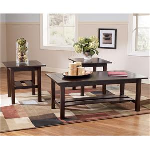 Signature Design by Ashley Furniture Lewis 3-in-1 Pack Occasional Tables
