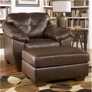 Ashley Furniture San Lucas - Harness Upholstered Chair and Ottoman