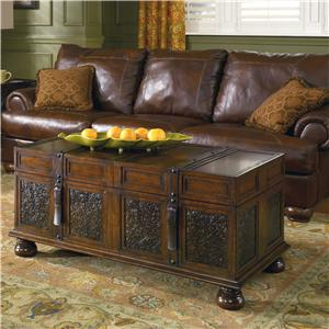 Signature Design by Ashley Furniture McKenna Storage Cocktail Trunk Table