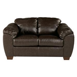 Sig Millennium by Ashley Furniture Franden DuraBlend - Cafe Upholstered Love Seat