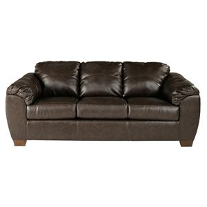 Sig Millennium by Ashley Furniture Franden DuraBlend - Cafe Upholstered Sofa Sleeper