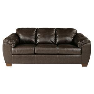 Sig Millennium by Ashley Furniture Franden DuraBlend - Cafe Upholstered Stationary Sofa