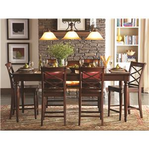 Aspenhome Cambridge Pub Table Set
