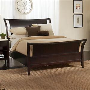 Aspenhome Kensington  Queen Sleigh Bed