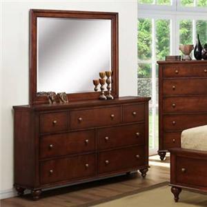 Austin Group Westlake Dresser & Mirror Set