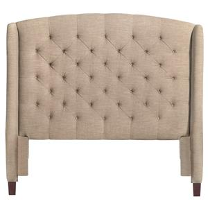 Bassett Custom Upholstered Beds Paris Upholstered Queen Size Headboard
