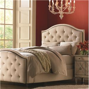 Bassett Custom Upholstered Beds Queen Vienna Upholstered Bed with High FB