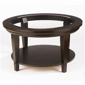 Bassett Easton Glass Top Round Cocktail Table