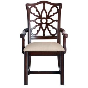 Bassett Moultrie Park Pierced Back Arm Chair