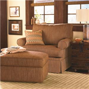 Bassett Custom Upholstery - Townhouse <b>Custom</b> Chair and a Half and Ottoman