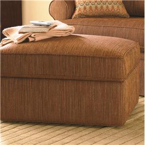 Bassett Custom Upholstery - Townhouse <b>Custom</b> Storage Ottoman
