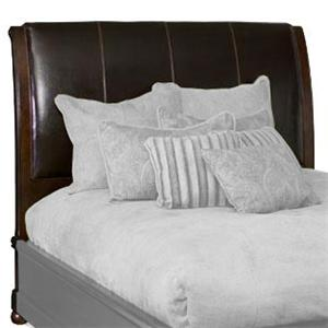 Bernhardt Belmont Queen Leather Sleigh Headboard