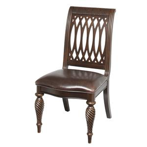 Bernhardt Belmont Side Chair with Leather Seat